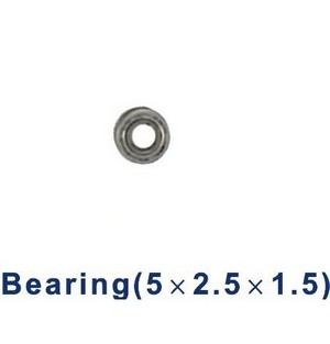 Double Horse 9050 DH 9050 RC helicopter spare parts bearing (small 5*2.5*1.5mm)