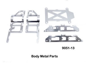 Double Horse 9051 9051A 9051B DH 9051 RC helicopter spare parts metal frame set