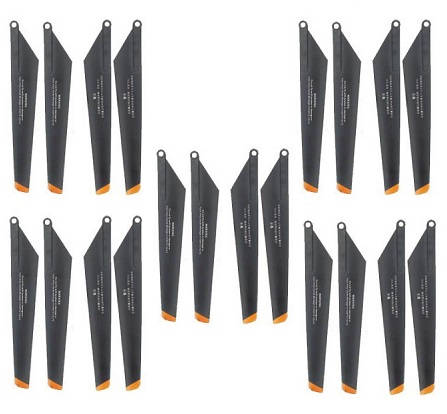 Double Horse 9101 DH 9101 RC helicopter spare parts 5 sets main blades (Upgrade Black-Orange)