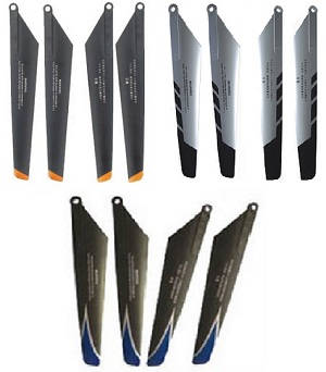 Double Horse 9101 DH 9101 RC helicopter spare parts main blades 3 sets (Upgrade Black-Orange + Silver-Black + Black-Blue)