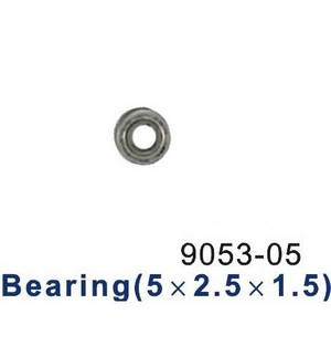 Shuang Ma 9053 SM 9053 RC helicopter spare parts bearing (Small 5*2.5*1.5mm)