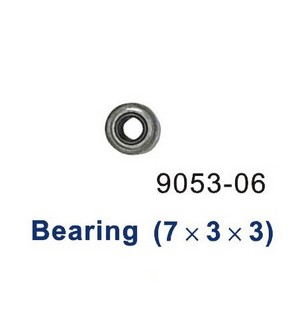 Shuang Ma 9053 SM 9053 RC helicopter spare parts bearing (Medium 7*3*3mm)