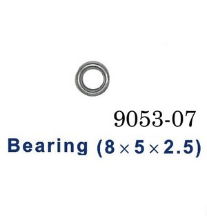 Shuang Ma 9053 SM 9053 RC helicopter spare parts bearing (Big 8*5*2.5mm)