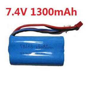 Shuang Ma 9053 SM 9053 RC helicopter spare parts battery 7.4V 1300mah red JST plug