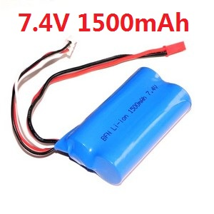 Shuang Ma 9053 SM 9053 RC helicopter spare parts battery 7.4V 1500mah red JST plug