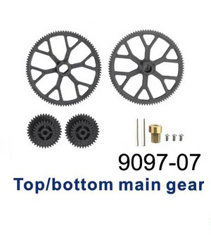 Double Horse 9097 DH 9097 RC helicopter spare parts main gear set