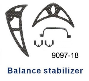 Double Horse 9097 DH 9097 RC helicopter spare parts tail decorative set