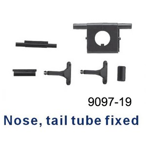 Double Horse 9097 DH 9097 RC helicopter spare parts Nose tail tube fixed