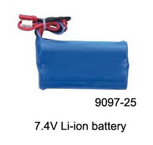 Double Horse 9097 DH 9097 RC helicopter spare parts battery 7.4V 1100mAh JST plug