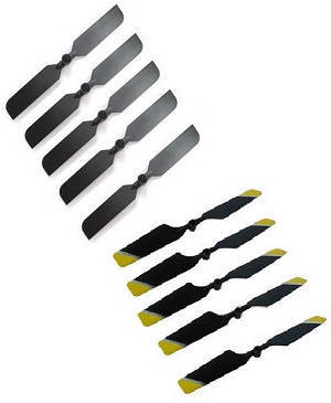Double Horse 9101 DH 9101 RC helicopter spare parts tail blade (Black+Yellow) 10 pcs