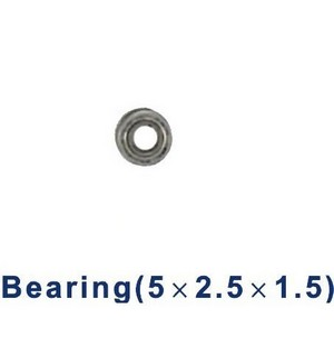 Shuang Ma 9101 SM 9101 RC helicopter spare parts bearing (Small 5*2.5*1.5mm)