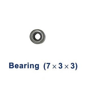 Shuang Ma 9101 SM 9101 RC helicopter spare parts bearing (Medium 7*3*3mm)
