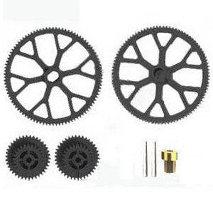 Shuang Ma 9101 SM 9101 RC helicopter spare parts main gear set (upper + lower + small gear)