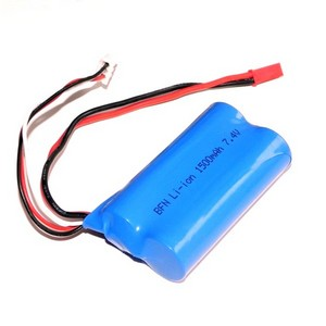 Shuang Ma 9104 SM 9104 RC helicopter spare parts battery 7.4V 1500mAh red JST plug