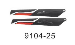 Double Horse 9104 DH 9104 RC helicopter spare parts main blades (red)
