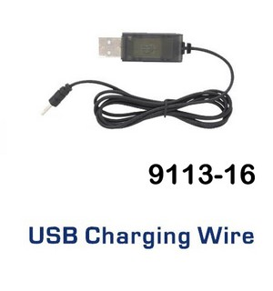 Shuang Ma 9113 SM 9113 RC helicopter spare parts USB charger wire