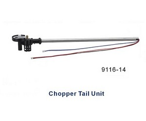 Shuang Ma 9116 SM 9116 RC helicopter spare parts tail big pipe + tail motor + tail motor deck (set)
