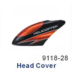 Double Horse 9118 DH 9118 RC helicopter spare parts head cover (Orange)