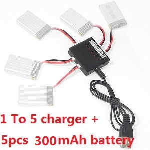 Wltoys XK A120 RC Airplanes Helicopter spare parts 1 to 5 charger + 5*battery 3.7V 300mAh set