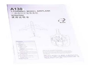 Wltoys XK A130 RC Airplanes Helicopter spare parts English manual instruction book