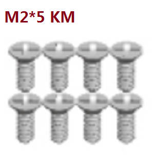 Wltoys A262 RC Car spare parts A202-19 cross head machine screws M2*5KB