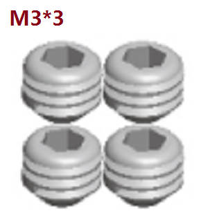 Wltoys A262 RC Car spare parts A292-91 set screws M3*3