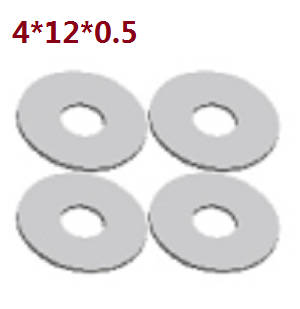 Wltoys A262 RC Car spare parts A202-21 shim 4*12*0.5