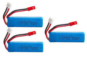 Wltoys A262 RC Car spare parts battery 7.4V 500mAh 3pcs