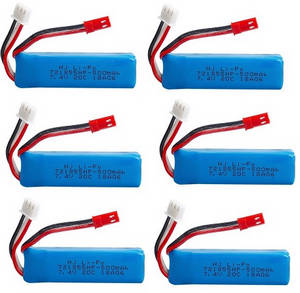 Wltoys A262 RC Car spare parts battery 7.4V 500mAh 6pcs