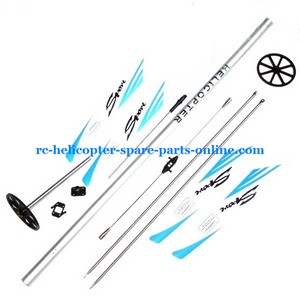 Flame Strike FXD A68690 helicopter spare parts tail big boom + quickly wear parts set blue color