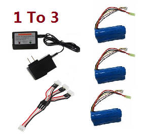 Flame Strike FXD A68690 helicopter spare parts 1 to 3 charger set + 3* 11.1V 1500mAh battery set
