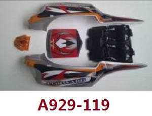 Wltoys A929 RC Car spare parts red car shell A929-119