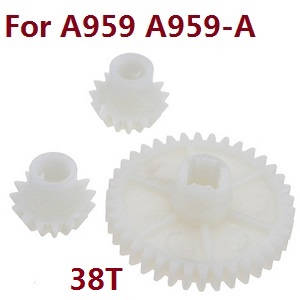 Wltoys A959 A959-A A959-B RC Car spare parts Reduction gear + driving gear