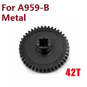 Wltoys A959 A959-A A959-B RC Car spare parts Reduction gear (Alloy Black)