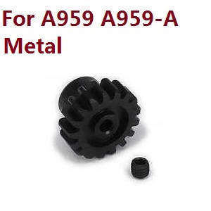 Wltoys A959 A959-A A959-B RC Car spare parts alloy gear on the motor (Black)