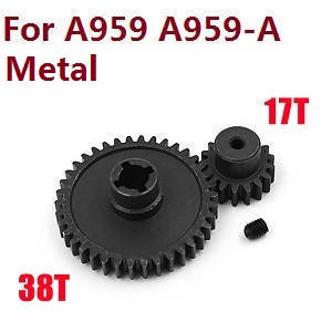 Wltoys A959 A959-A A959-B RC Car spare parts Reduction gear + driving gear (Alloy Black)
