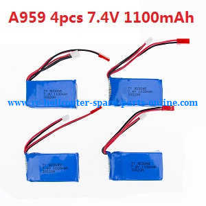 Wltoys A959 A959-A A959-B RC Car spare parts 7.4V 1100mAh battery For A959 4pcs