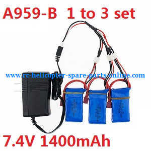 Wltoys A959 A959-A A959-B RC Car spare parts 1 to 3 charger set for A959-B