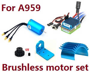 Wltoys A959 A959-A A959-B RC Car spare parts Brushless motor set for A959 A959-B