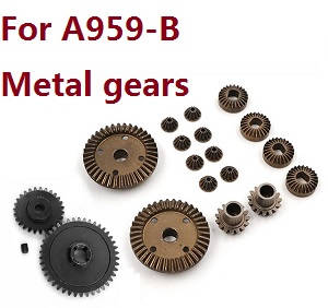 Wltoys A959 A959-A A959-B RC Car spare parts motor driven gear (Black)