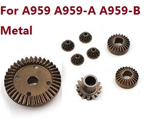 Wltoys A959 A959-A A959-B RC Car spare parts motor driven gear (Copper)