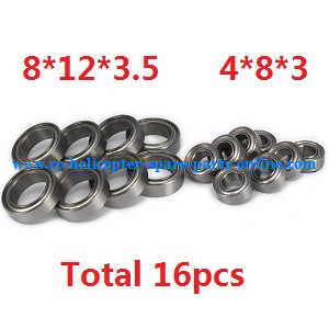 Wltoys A959 A959-A A959-B RC Car spare parts Bearing (4*8*3 and 8*12*3.5 Total 16pcs)