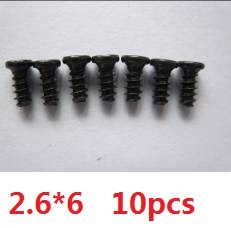 Wltoys A959 A959-A A959-B RC Car spare parts screws 2.6*6 10pcs