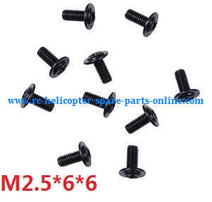 Wltoys A959 A959-A A959-B RC Car spare parts screws M2.5*6*6 10pcs
