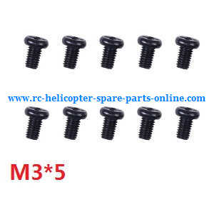 Wltoys A959 A959-A A959-B RC Car spare parts screws M3*5 10pcs