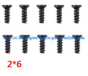 Wltoys A959 A959-A A959-B RC Car spare parts screws 2*6 10pcs