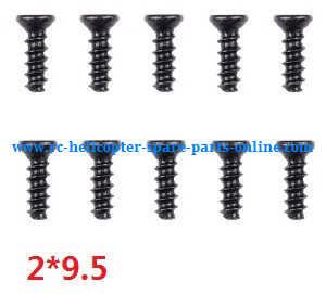 Wltoys A959 A959-A A959-B RC Car spare parts screws 2*9.5 10pcs