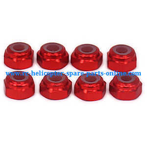 Wltoys A959 A959-A A959-B RC Car spare parts M3 locknut (Red 8pcs)