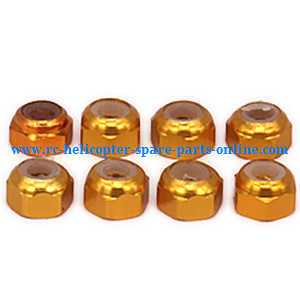 Wltoys A959 A959-A A959-B RC Car spare parts M3 locknut (Yellow 8pcs)