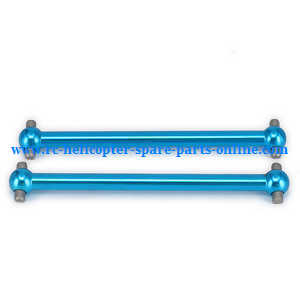 Wltoys A959 A959-A A959-B RC Car spare parts upgrade alloy aluminum drive shaft,dogbone (Blue)